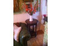 Antique Solid Oak Occasional Table