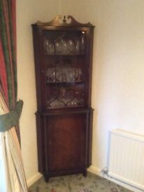 Corner Wooden Display cabinet