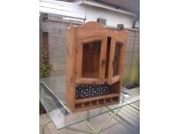 Old Pine display wall cabinet
