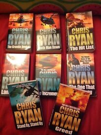BOOK CLEARANCE INCLUDING CHRIS RYAN DICK FRANCIS MATTHEW REILLY CATS