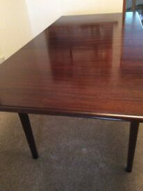 Mahogany extending dining table and 4 chairs