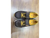 Clarks boys shoes Tri Dash Junior Brown Leather 3 1/2 G.