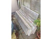 12 stone faced base panels