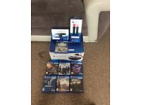 PS 4 VR headset,PlayStation move,camera and 7 games as seen in photo.