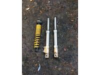 Honda x8r-x front and rear suspension