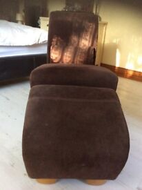 Laura Ashley Occasional BEDROOM Chair.& FOOTSTOOL GREAT CONDITION