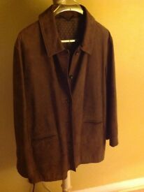 Brown Nubuck Leather Jacket