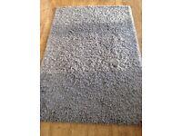 John Lewis plush tufted rug in grey