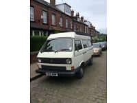 T25 campervan with cheerful interior and original features