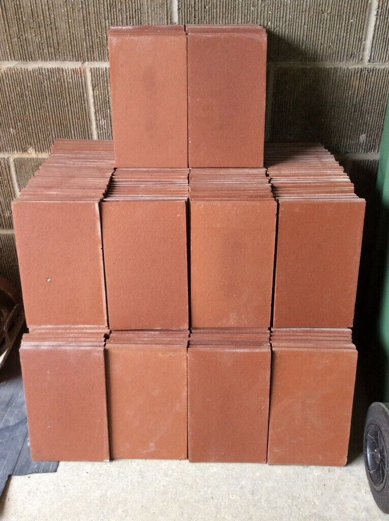 Hard Red Clay Creasing Tiles For Use In Garden Walls Or Decorative