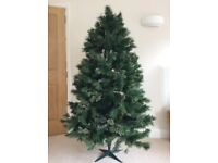 Green Artificial Christmas Tree (approx. 180cm tall)