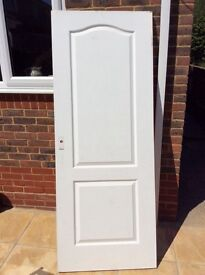 Good condition wooden door, replaced due to not fire proof. Garage door