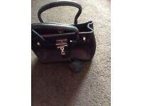 Jasper Conran black leather handbag