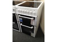 Beko 50cm white electric cooker. £249 new/graded 12 month Gtee