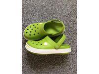 Green crocs size 12 junior