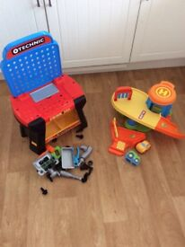 Childs workbench and car park