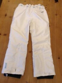 Ski trousers size 12/14 with integrated Recco Avalanche rescue system only £10 worn on just 1 hols