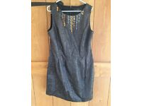 Coast ,lurex dress size 12 bronze