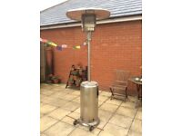 Large free standing metal gas patio heater