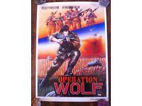Operation Wolf 1987 100% original UK advertising poster MINT TAITO CORP arcade game 1980s retro