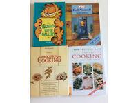 Books various 2 cooking books 1 handyman 1 Garfield