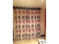 "Curtains, 66"" x approx 85""' immaculate"