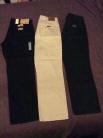 3 x wrangler jeans