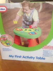 Little Tikes My First Activity Table brand new in box / BNIB