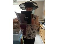 Black mother of the bride/groom wedding hat