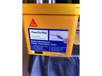 Sika pave fix plus. Grey. Self setting jointing compound. Wet or dry application. RRP £36