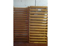 Pine cot bed and mattress