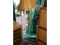 Laura Ashley style floor lamp and matching table lamp