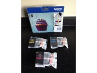 3 Brother printer LC123 cartridges