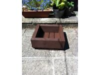 Mini Sleeper Square Planter ( Ronseal Dark Oak ) - nice bargain £ 18