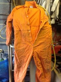 Safe welder flame retardant boiler suit / overall, used, size L large