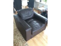 Brown Leather Arm Chair.
