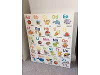 Kids Nursery/Playroom Alphabet Canvas