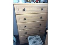 Chest of drawers and other house hold items