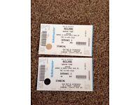 2 Macklemore tickets 3 April. 3 arena