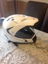 Motorbike helmet Frank Thomas make , perfect condition used twice .