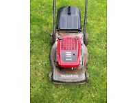 moutfield sp470 self propelled petrol lawn mower with box
