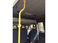 Yellow hand rails for van,minibus,camper etc