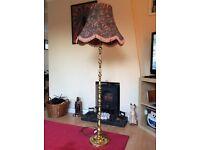 For Sale - Gold Metal Floor Lamp