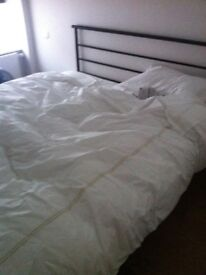 SuperKing size bed with frame in excellent condition