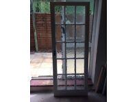 Glass panelled interior door .