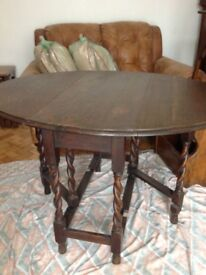 Antique Solid Oak Gateleg Table