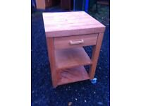Solid oak butchers block kitchen island