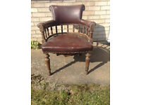 victorian captains chair/in need of restoration