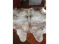 Beautiful grey and beige cowhide rug excellent condition