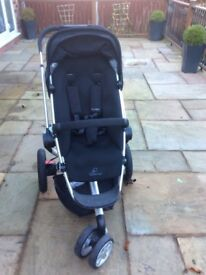 Quinny Buzz Three Pushchair with Quinny foot muff Included
